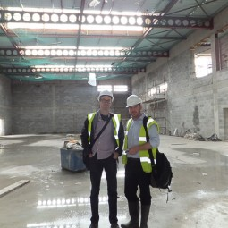 Site visit at Loreto Dalkey Sports Hall
